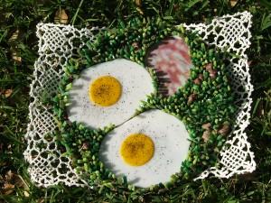 fine art mosaic plate by Lynn Bridge