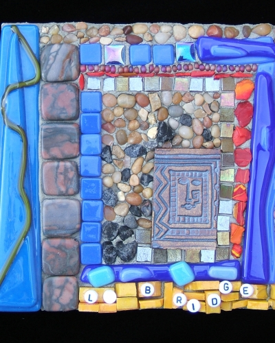 abstract fine art mosaic panel by Lynn Bridge