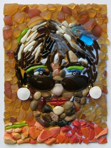 mosaic portrait of a woman by Lynn Bridge