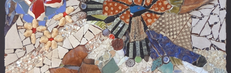 Broken pieces mosaic by Lynn Bridge