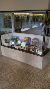 Austin Mosaic Guild display at Kruger's Jewelers, Austin, Texas